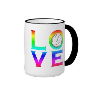 LOVE: Volleyball Ringer Mug