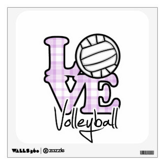 Love Volleyball Wall Decal