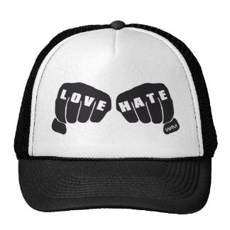 love vs hate trucker hat