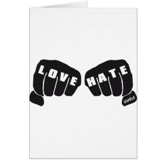 love vs hate greeting card