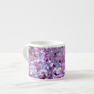 Love Waits Lilac Lavender and Pink Espresso Cup