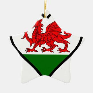Love Wales Ceramic Ornament