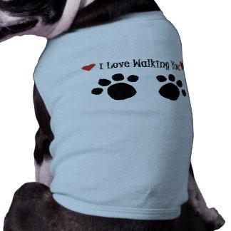 Love Walking Doggie Ringer T-Shirt