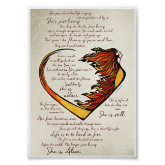 "Love Warrior Poem 5""x7"" Art Print"