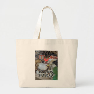 Love was in the Air Large Tote Bag