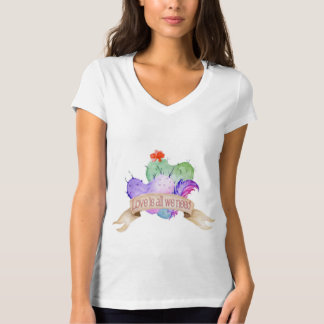 Love Watercolor Cacti T-Shirt