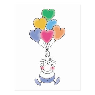 Love Watercolor Cute Postcard