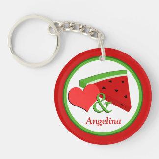 Love & Watermelon - Personalized Acrylic Keychain