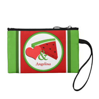 Love & Watermelon - Personalized Key Coin Clutch