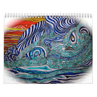 Love Wave Art Calenar Calendar