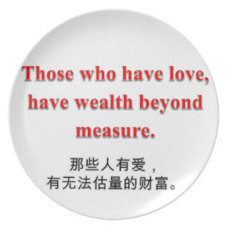Love & Wealth Collection - Plate