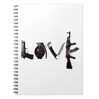 Love Weapons Spiral Note Book
