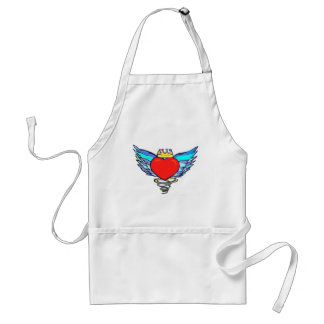 LOVE WEARS THE CROWN ADULT APRON