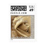 LOVE Wedding  GOLD Rose SILVER Lace Stamp