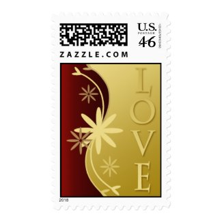 Love Wedding Invitation Postage Stamp stamp