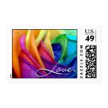 Love Wedding Invitation Postage Stamp