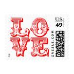 Love Wedding Invitations RSVP Valentine's Day Postage Stamp
