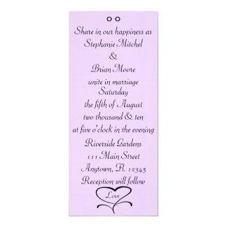 "Love Wedding Invites 4"" X 9.25"" Invitation Card"