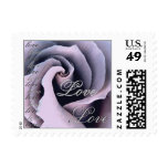 LOVE Wedding LILAC PURPLE Rose SILVER Lace Stamps