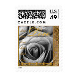 LOVE Wedding OLD SILVER Rose ANTIQUE GOLD Lace Postage