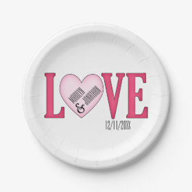 LOVE Wedding Personalized Paper Plates 7 Inch Paper Plate  sc 1 st  Pretty Pattern Gifts & Personalized Paper Plates - Pretty Pattern Gifts