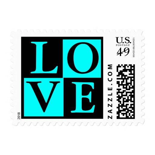 Love Wedding Postage Stamp