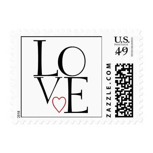 Love Wedding Postage Stamps