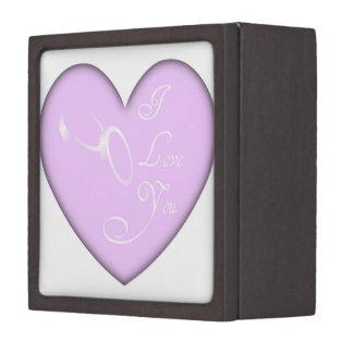 Love Wedding Rings Jewelry Box Premium Gift Boxes