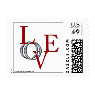 Love Wedding Rings Save The Date Invitation Stamp