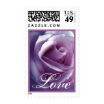 LOVE Wedding Stamp with SHADES OF PURPLE  Rose