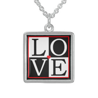 LOVE Wedding Sterling Silver Necklace