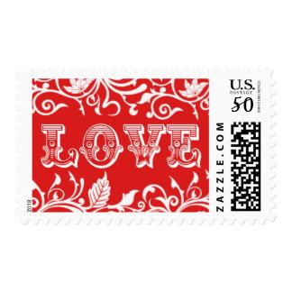Love Wedding Valentine's Day Design Postage
