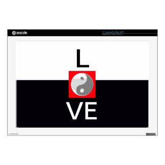 Love Wedding Yin Yang Black and White Bride Groom Laptop Skins