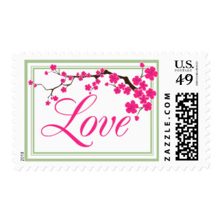 Love Weddings Spring Summer Floral Colors Postage Stamp