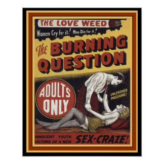 Love Weed : The Burning Question 16 x 20 Poster