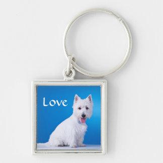 Love West Highland Terrier Westie Key Chain