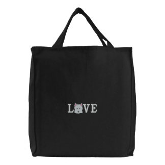 Love Westie Love Embroidered Bag