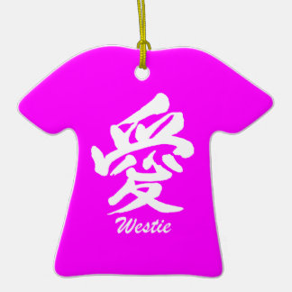 love westie Double-Sided T-Shirt ceramic christmas ornament