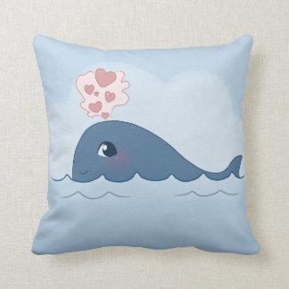 Love whale throw pillow