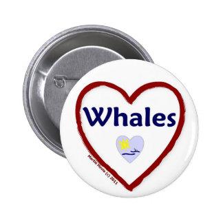 Love Whales Button