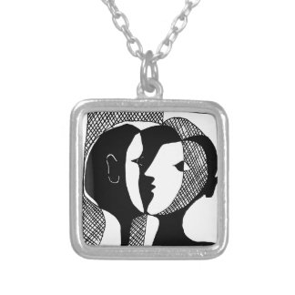 Love Whisper Silver Plated Necklace