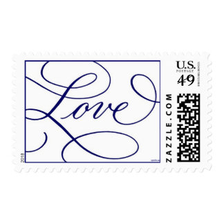 Love . White and Blue Postage