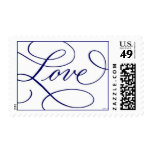 Love . White and Blue Stamps