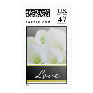 Love White and Green Cala Lily Stamp Wedding Stamp