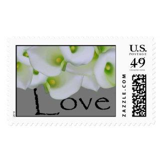 Love White Cala Lily Stamp Wedding Stamp