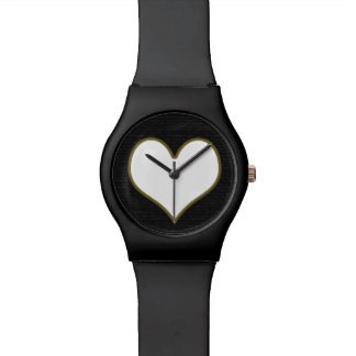 love white heart wristwatches