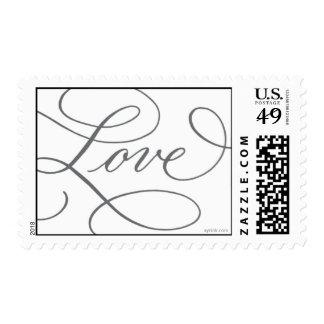Love . White Slate Gray Postage