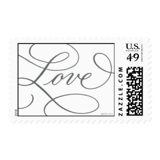 Love . White Slate Gray Postage Stamp