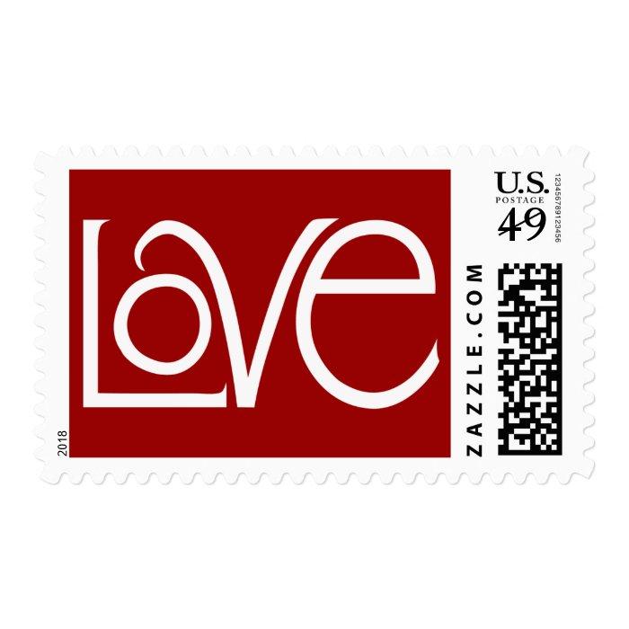 Love white Stamp