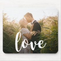 Love | White Typography | Photo Mouse Pad